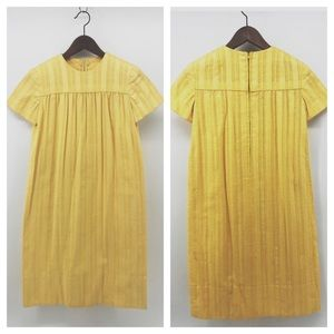 Other - VTG Golden Yellow Handmade Girls Maxi Dress